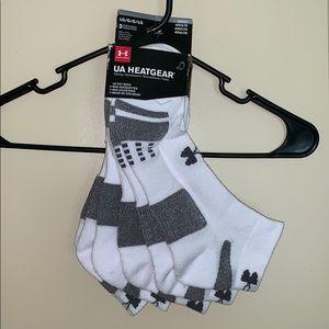 Under armour heat gear 3 pair low cut socks